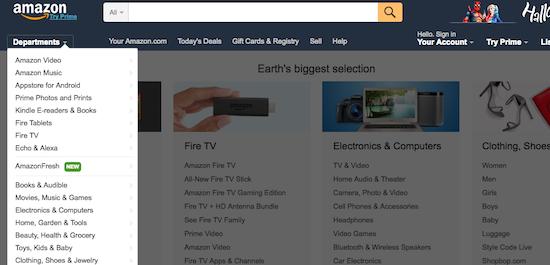 商品の検索 アマゾン