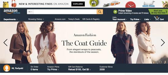 AMAZON.COM トップページ
