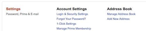 アマゾンアカウントの発送住所登録