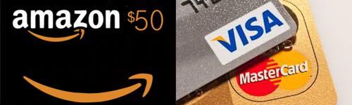 支払いはクレジトカードやアマゾンギフトカードを使用で来ます。