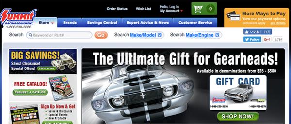 Summit Racing のウェブサイトへ行く